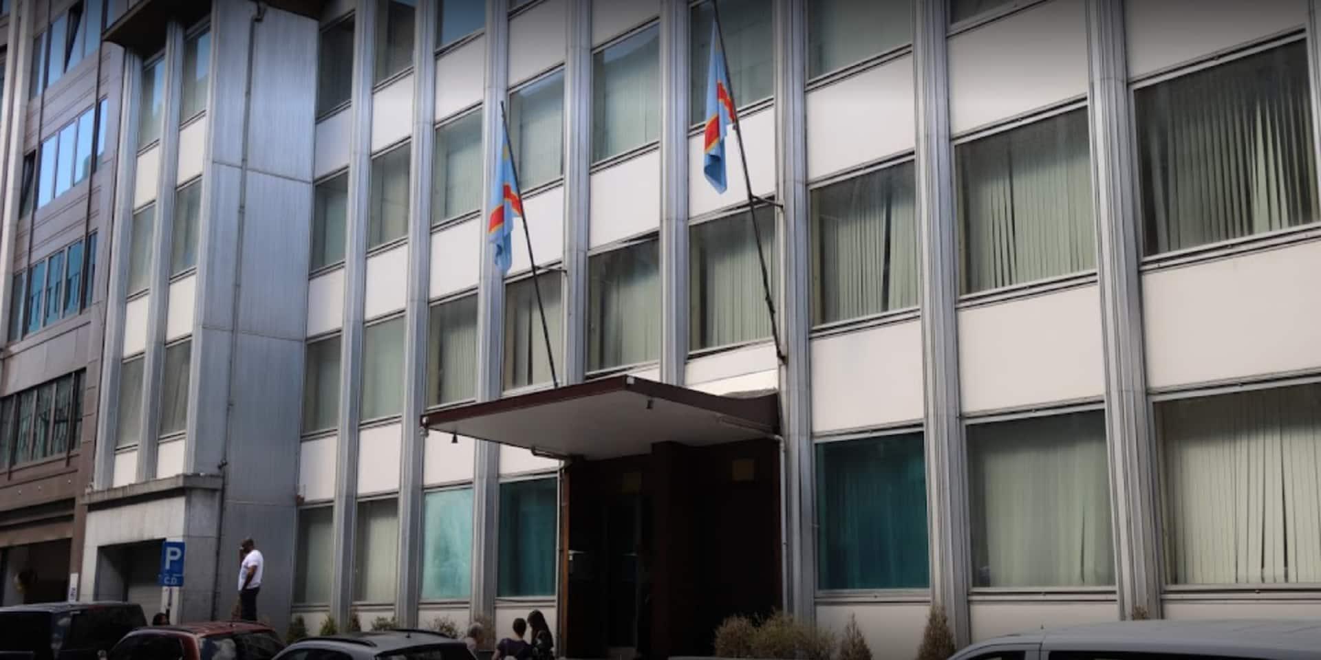 L'ambassade de RDC à Bruxelles porte plainte après des dégradations