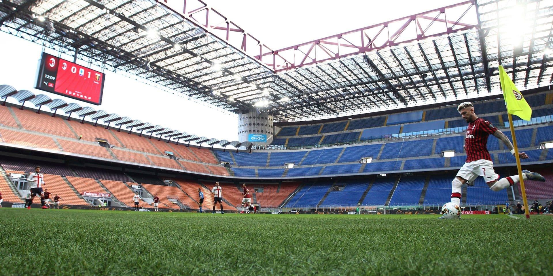 les matches maintenus malgré le coronavirus, Milan battu