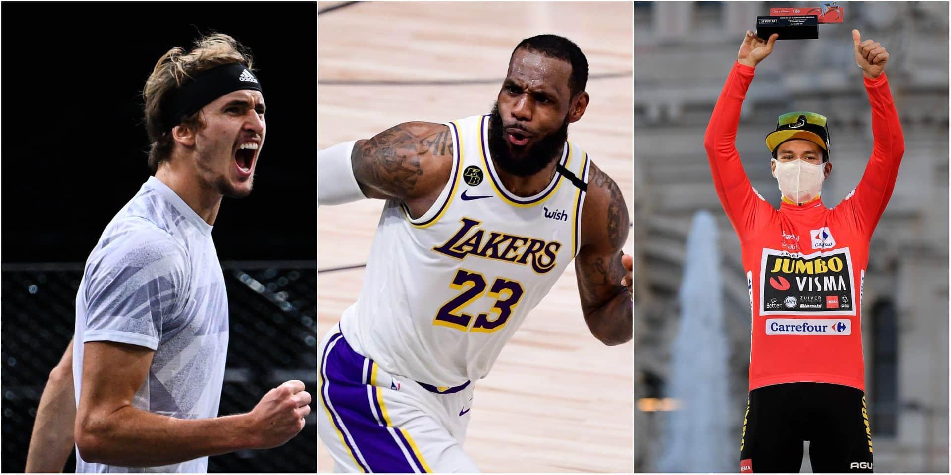 Choisissez un sujet traité par notre rédaction sportive: Zverev l'indésirable, le casse-tête de la NBA ou Roglic le n°1 en 2020 ?