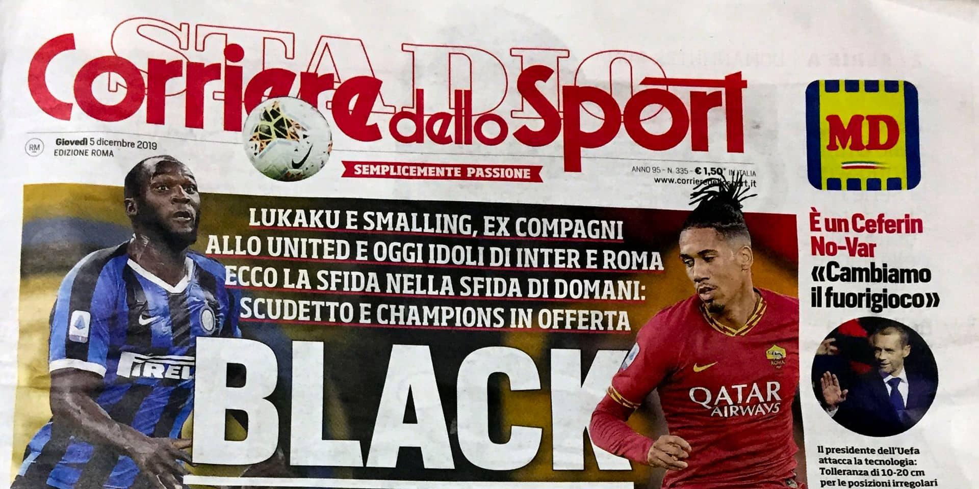 """""""Nous sommes les ennemis du racisme"""": le Corriere dello Sport dénonce un lynchage après l'affaire Lukaku"""