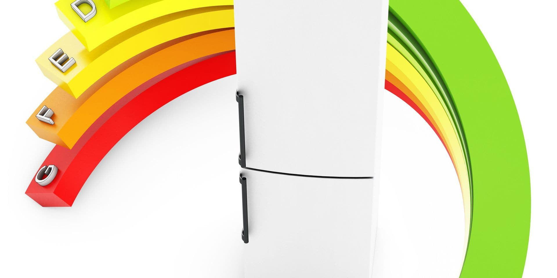 3d,Energy,Efficiency,Concept,With,Fridge,On,White,Background