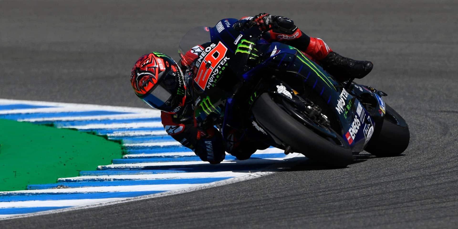 MotoGP: Leader du championnat, Quartararo (Yamaha) en pole position au Grand Prix d'Espagne
