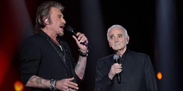 """Charles Aznavour, le """"père spirituel"""" de Johnny Hallyday : """"On était les maudits"""" - La DH"""