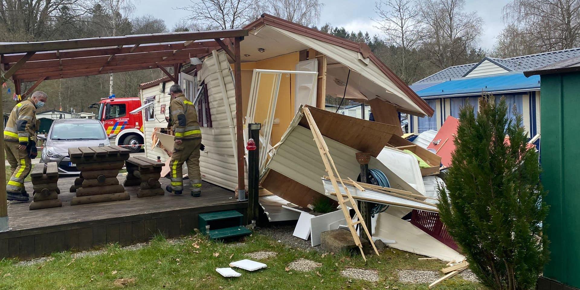 Explosion d'une caravane à Blier (Erezée) : un Anversois échappe à la mort