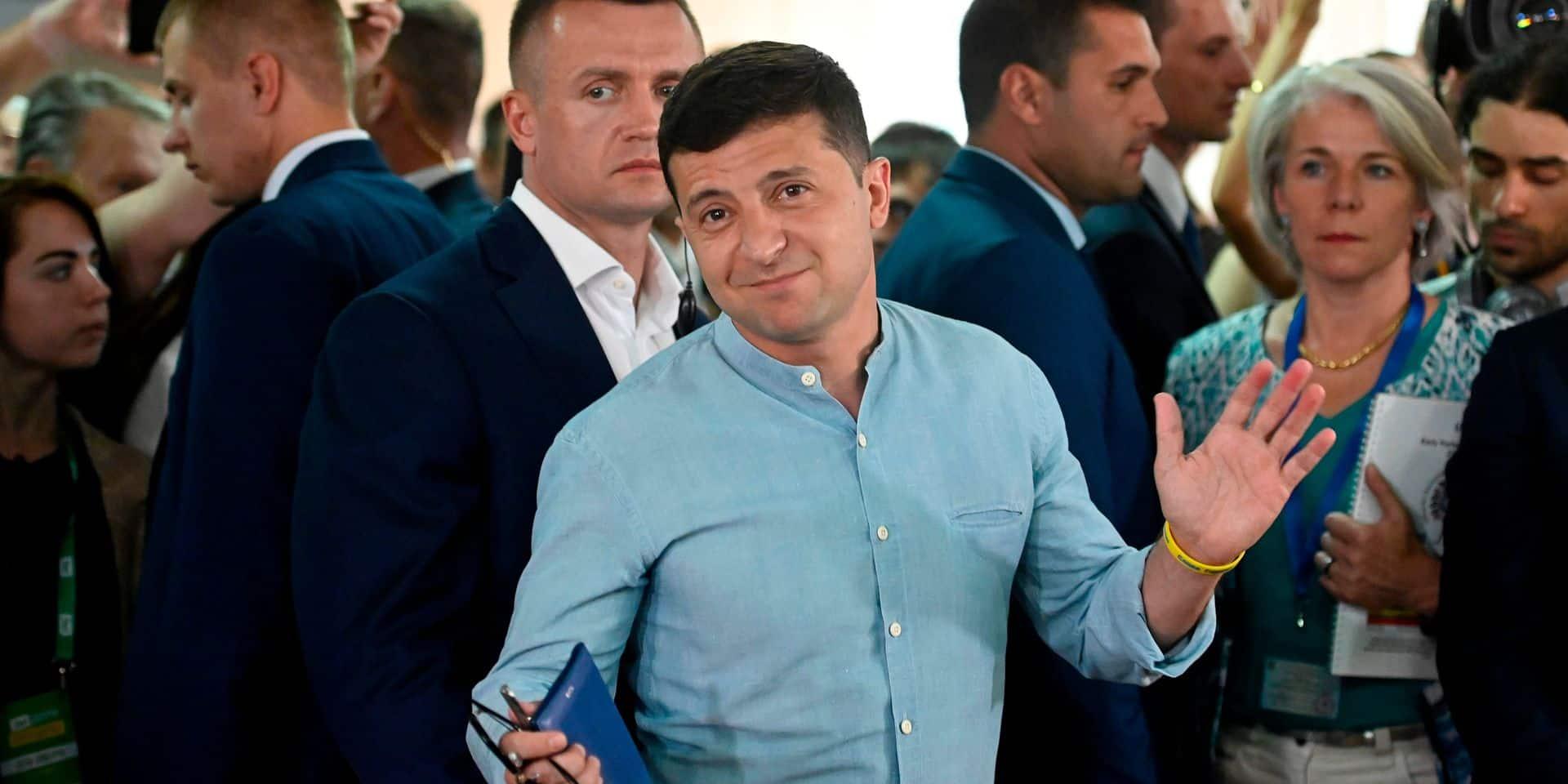 Elections législatives en Ukraine: le parti de Zelensky en tête des législatives avec 44% des voix