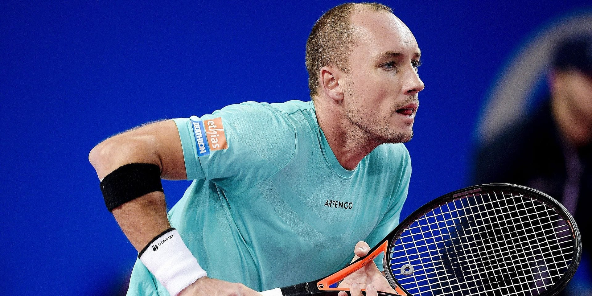 Steve Darcis (Bel) TENNIS : Open Sud de France 2019 - Montpellier - 05/02/2019 © PanoramiC / PHOTO NEWS PICTURES NOT INCLUDED IN THE CONTRACTS ! only BELGIUM !