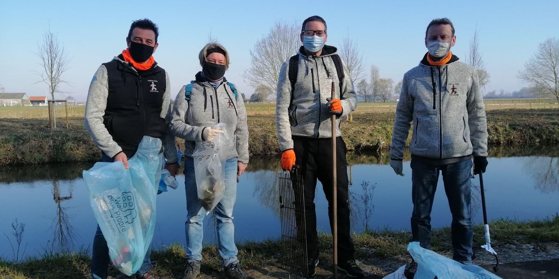 Des participants motivés pour le ramassage des déchets !