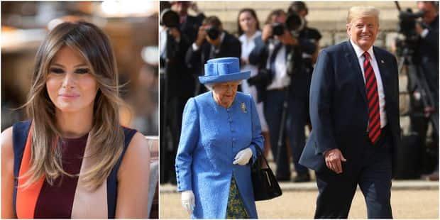 Visite de Trump au Royaume-Uni : le choix des tenues de Melania Trump et de la reine Elizabeth n'était pas anodin - La D...