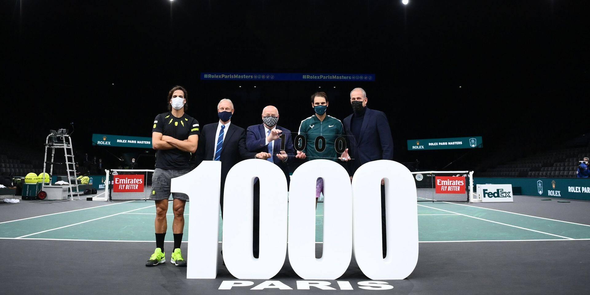 1000e victoire pour Rafael Nadal qui bat Feliciano Lopez au 2e tour du Masters 1000 parisien