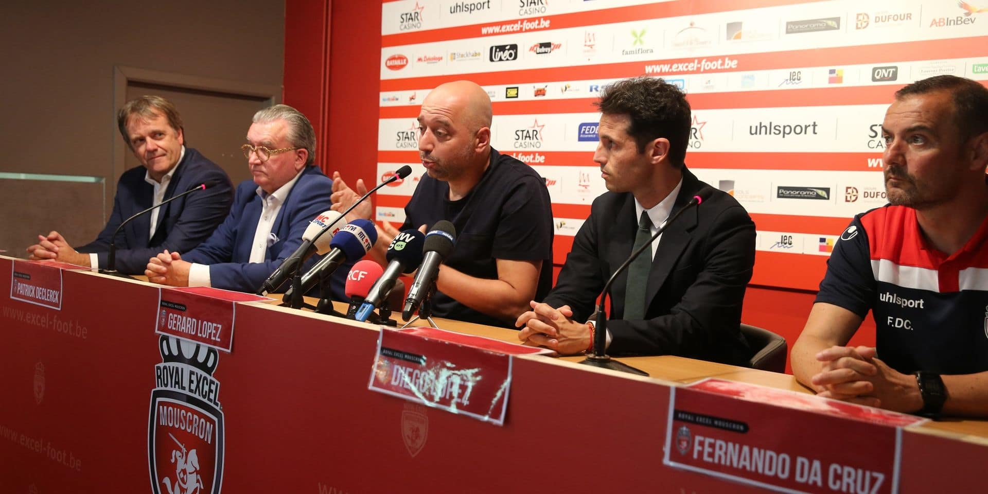 "Gérard Lopez annonce la poursuite de son engagement à Mouscron: ""Remonter en D1A le plus vite possible"""