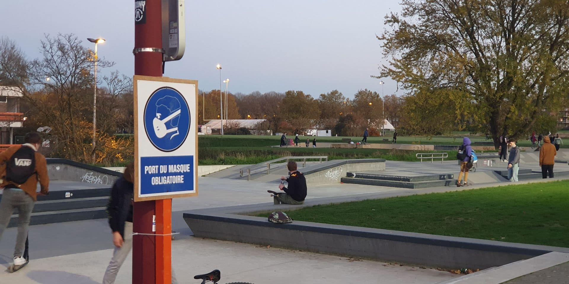 Tournai: Paul-Olivier Delannois rappelle l'obligation du port du masque autour du skatepark