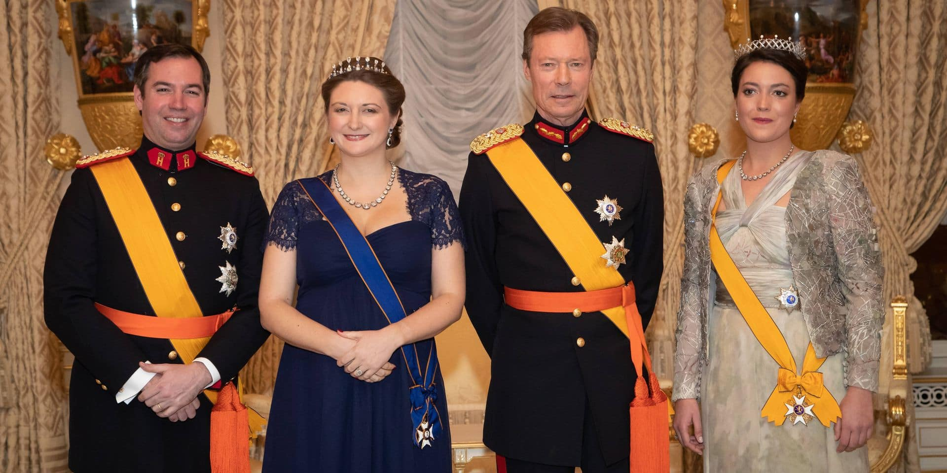 at the New Year's reception in the Grand Ducal Palace, Luxembourg City, Luxembourg, January 16, 2020.
