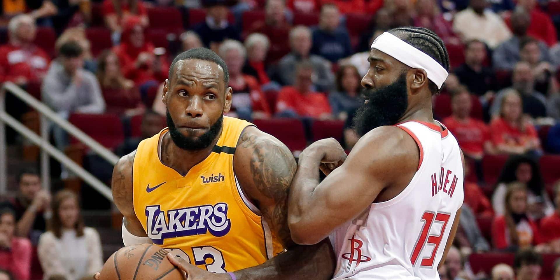 NBA: les Lakers redécollent chez les Rockets, les Bucks restent en orbite