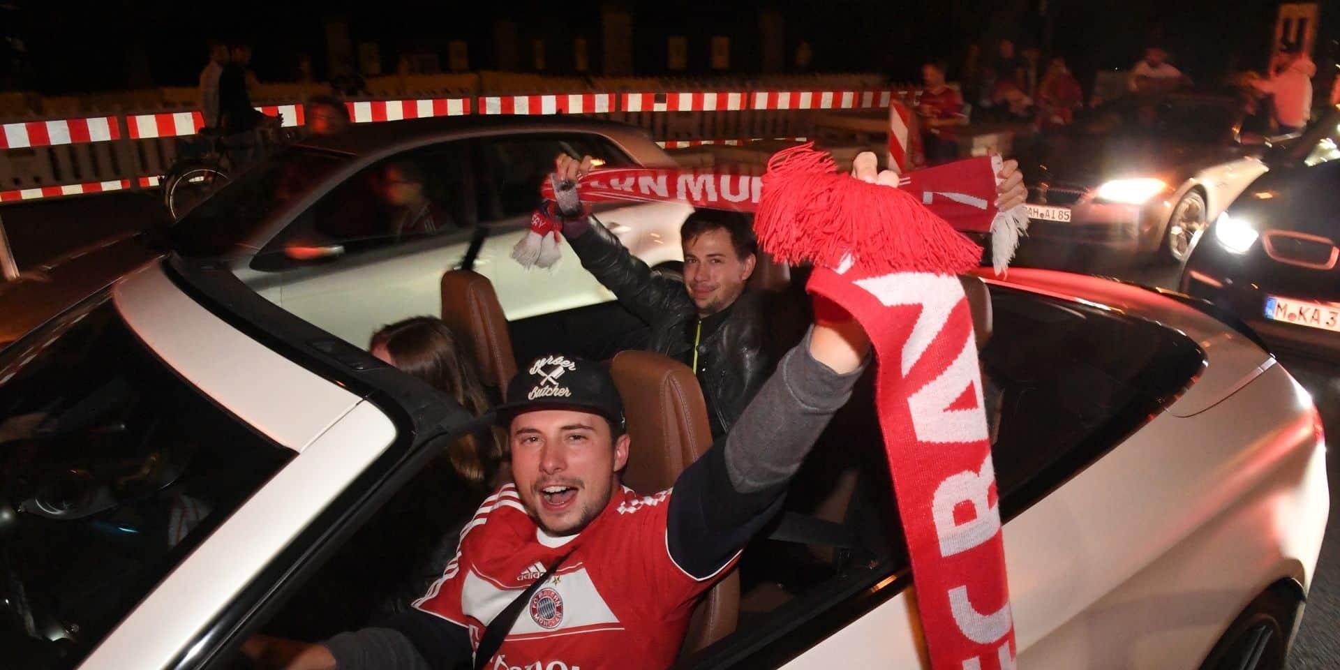 La police de Munich a arrêté des supporters du Bayern qui fêtaient la victoire