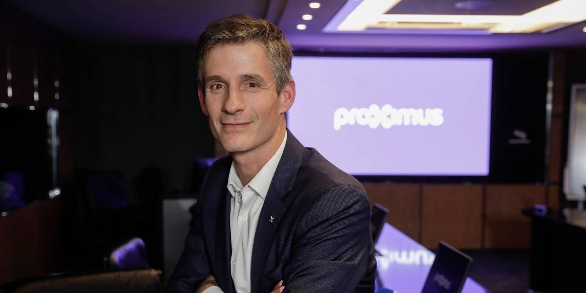 Lancement de la 5G critiqué, pression sur les réseaux, avenir du foot belge à la télé : Guillaume Boutin, nouveau patron de Proximus, nous répond