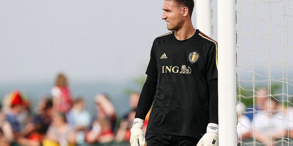 Belgium's goalkeeper Koen Casteels pictured during a training session of the Belgian national soccer team Red Devils, Friday 08 June 2018, in Tubize. The Red Devils started their preparations for the upcoming FIFA World Cup 2018 in Russia. BELGA PHOTO BRUNO FAHY