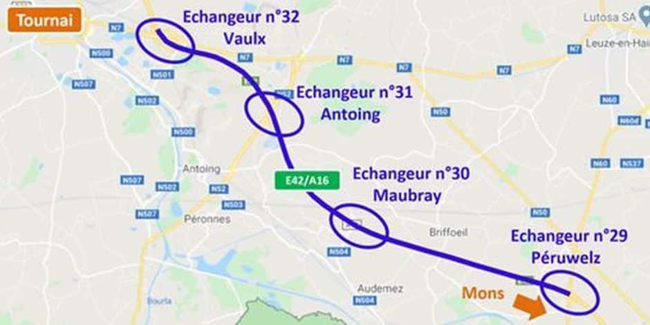 Péruwelz/Vaulx : les deux derniers kilomètres du chantier de l'E42/A16 seront libérés lundi