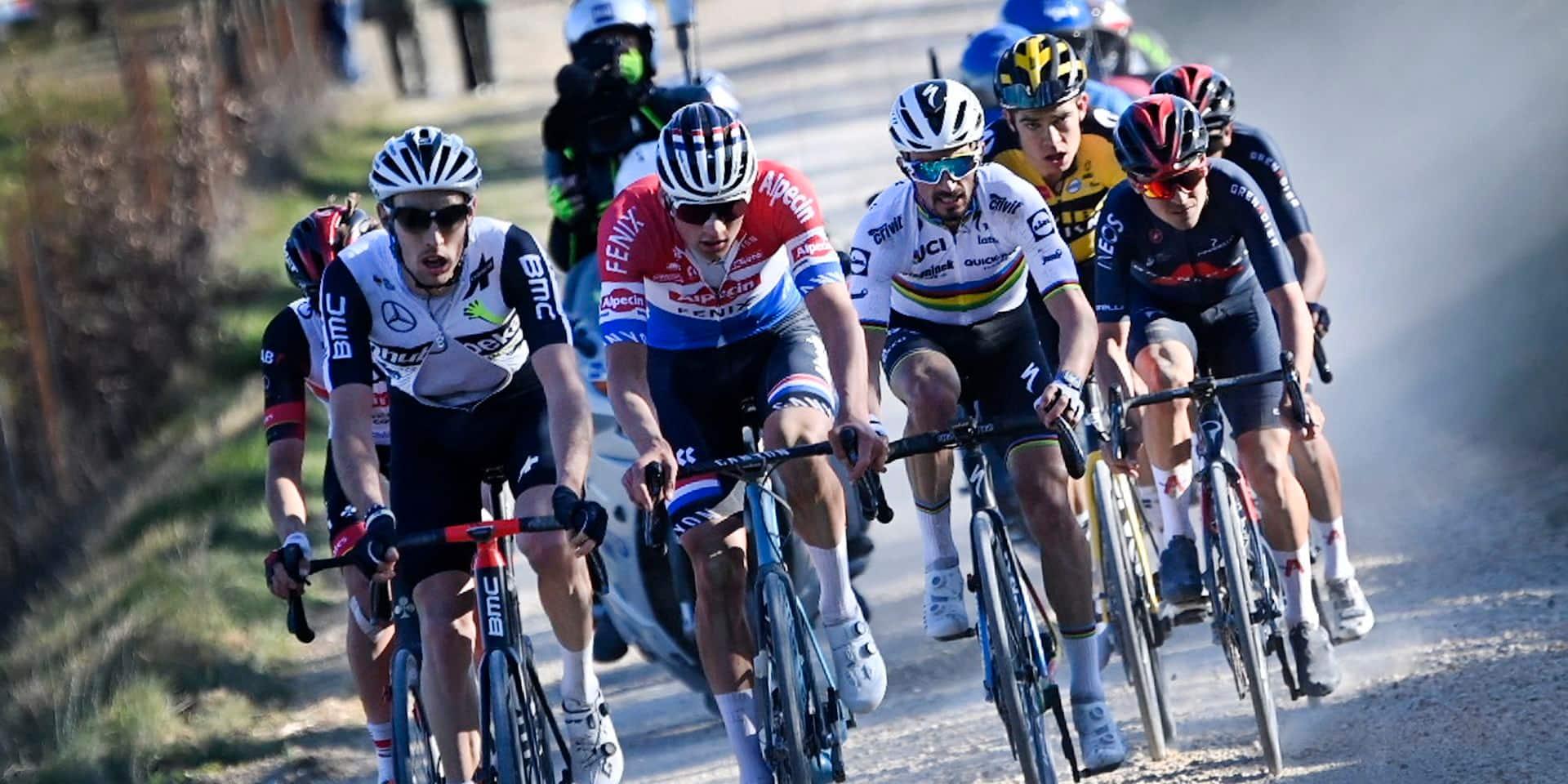 Les Strade Bianche, toujours une épreuve spectaculaire opposants les meilleurs coureurs
