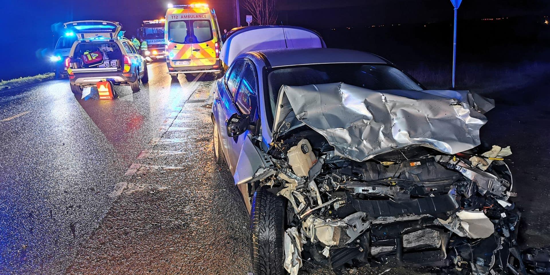 Donstiennes: trois blessés dans un grave accident sur la N53