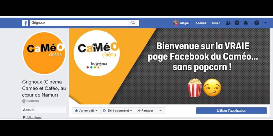 Etant donné son identité usurpée, le cinéma Cameo ne fera plus de concours sur Facebook