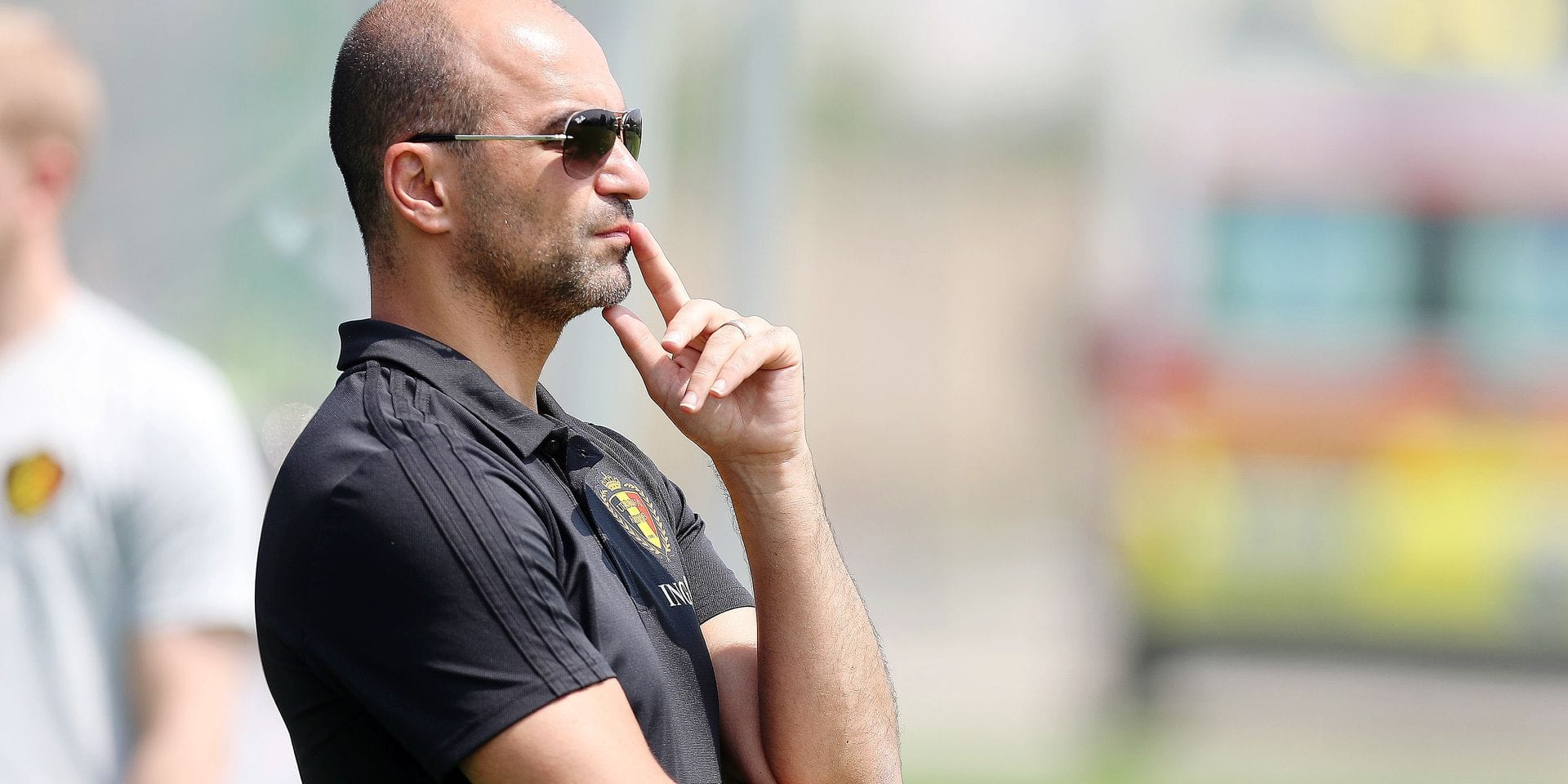 Roberto Martinez pictured during a training session of the U21 youth team of the Belgian national soccer team Red Devils, Monday 17 June 2019, at the 2019 European championships under 21 in Reggio, Italy. BELGA PHOTO BRUNO FAHY