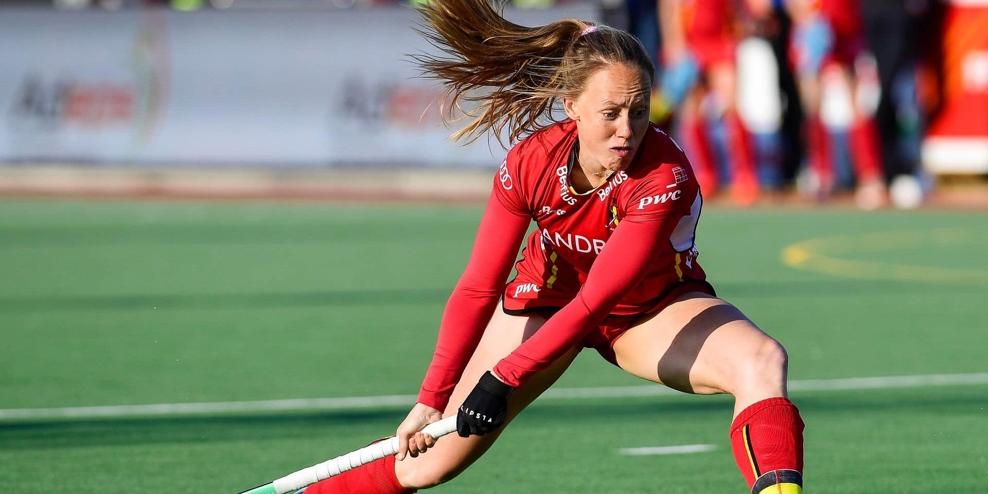 Belgium's Jill Boon pictured in action during a field hockey game between Belgium's national team Red Panthers and United States of America, Wednesday 10 April 2019 in Brussels, game 6/16 of the women's FIH Pro League competition. BELGA PHOTO LAURIE DIEFFEMBACQ