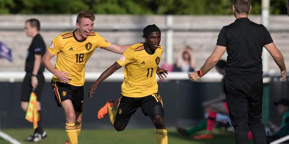 Les U17 belges débutent bien l'Euro en battant l'Irlande (2-0)