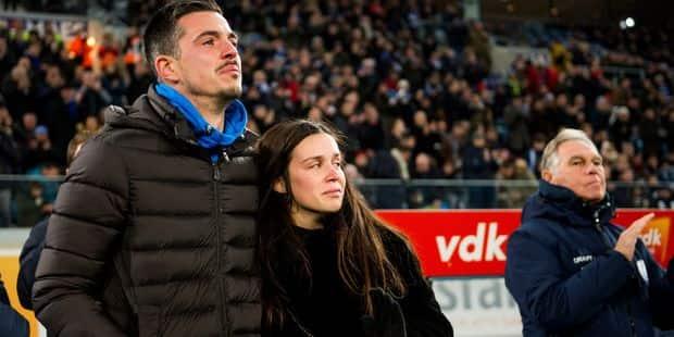 La minute de silence très émouvante pour la fille du Gantois Yannick Thoelen