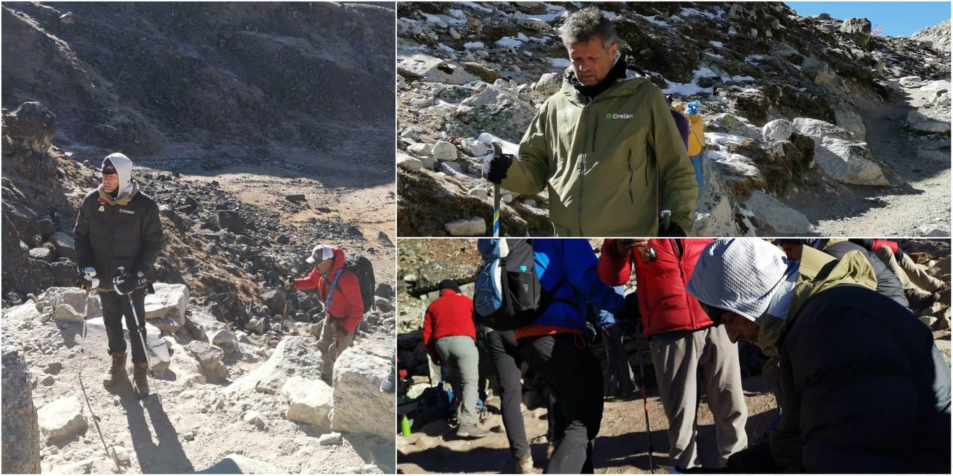 Jacques Borlée au plus mal: c'est au courage que le coach des Tornados poursuit l'expédition dans l'Himalaya