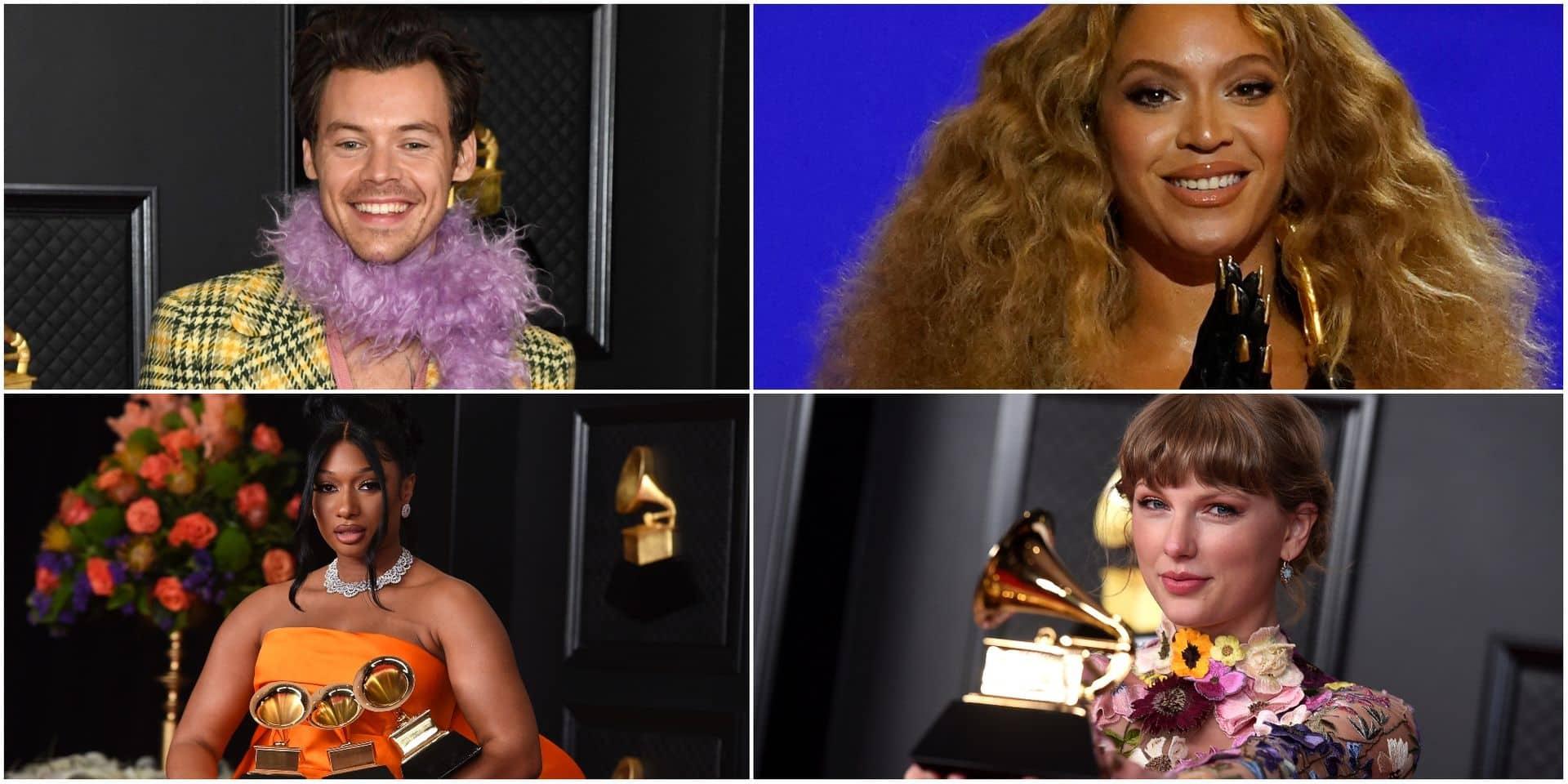 Records pour Beyoncé et Taylor Swift, la révélation Meghan Thee Stallion et le coup double de Billie Eilish: les récompenses des Grammy Awards