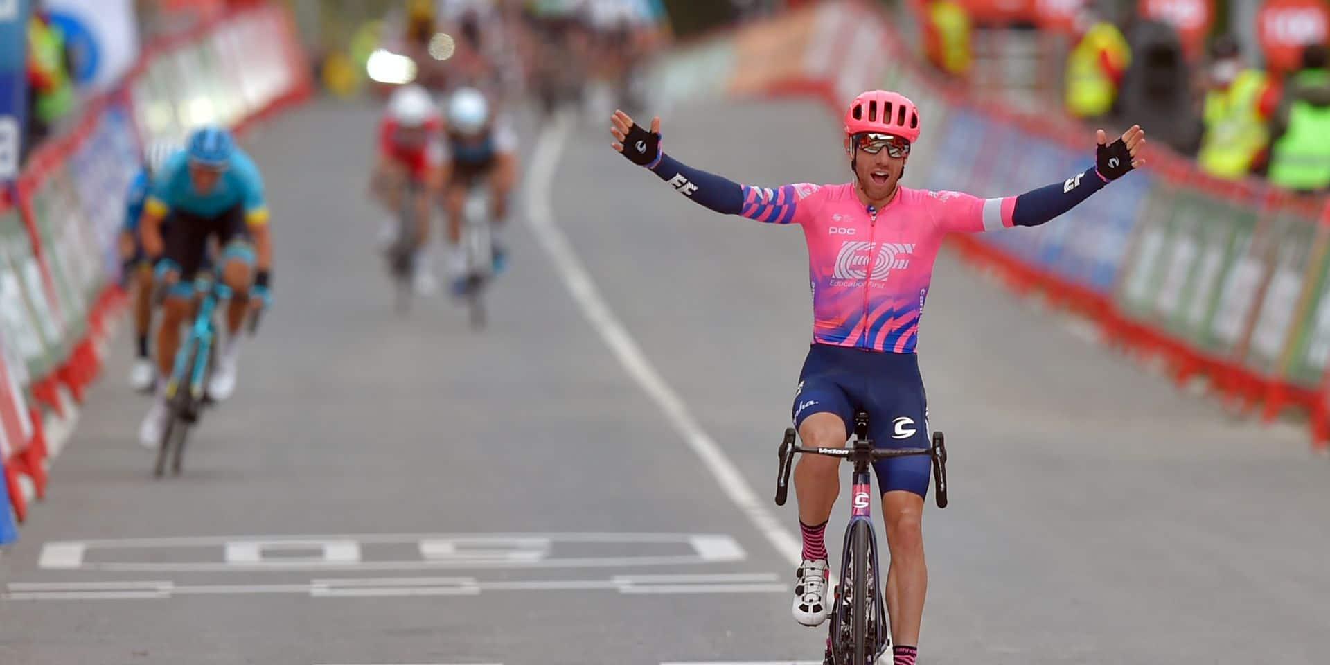 Vuelta: le Canadien Michael Woods s'impose, Carapaz reste en rouge