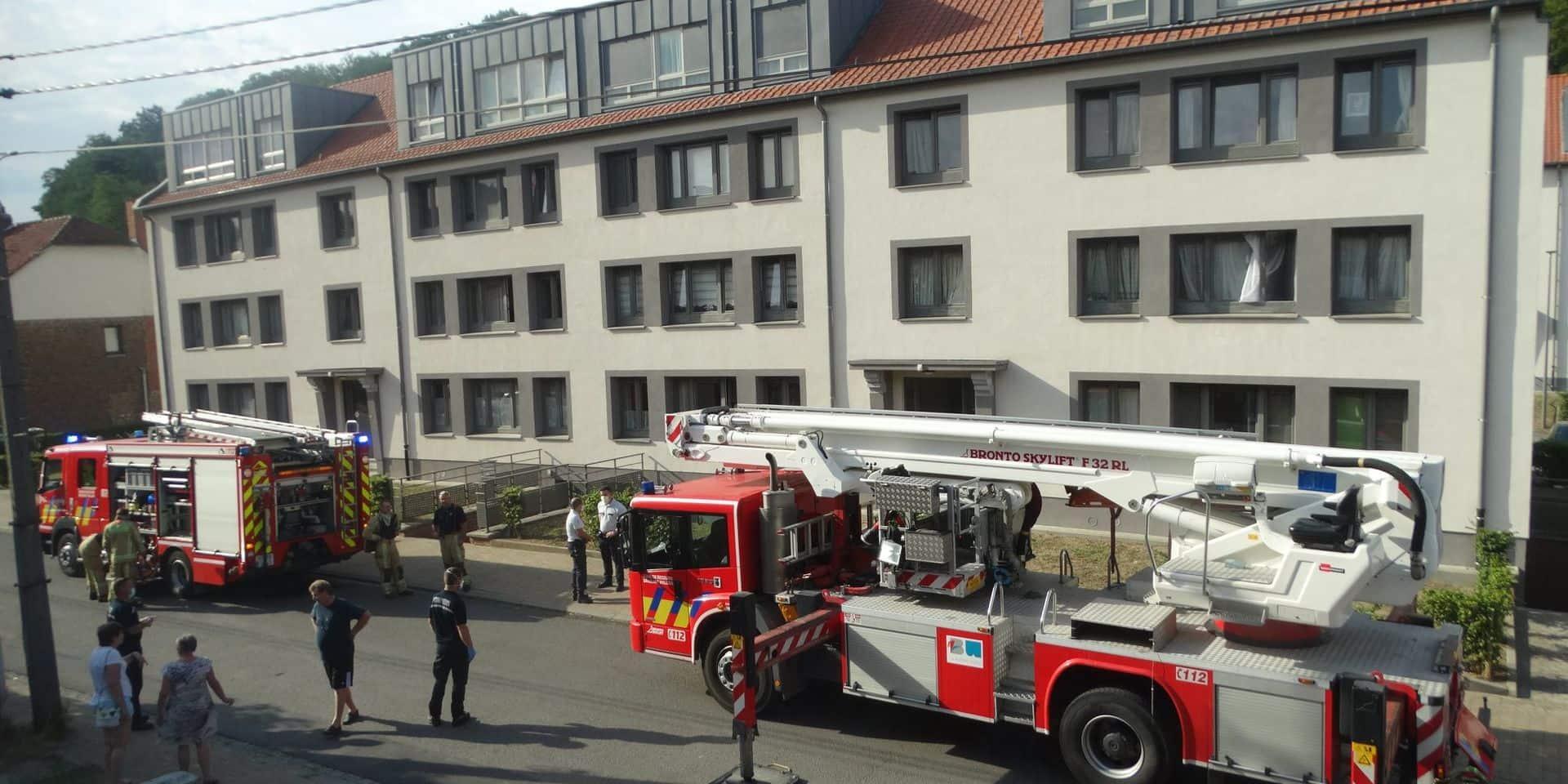 Incendie dans un appartement à Wavre