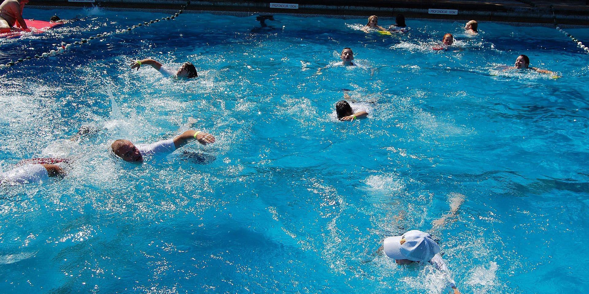 La piscine est à l'arrêt
