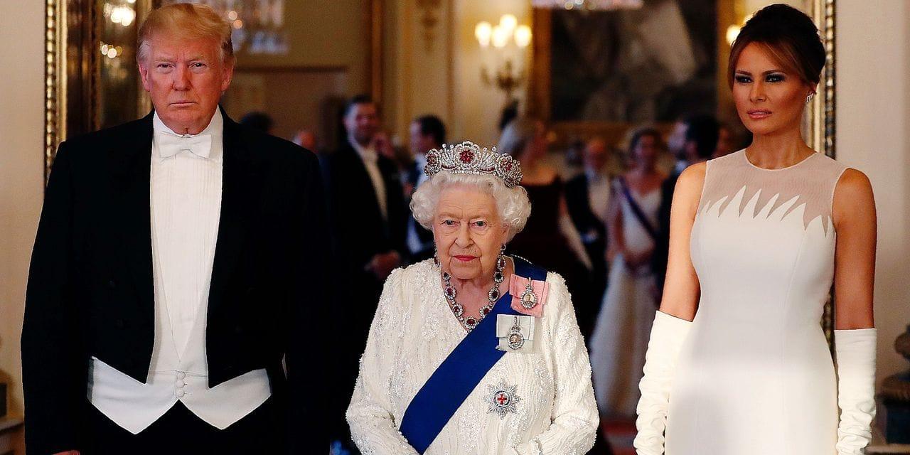 Visite d'Etat de Donald Trump à Londres: une broche Tiffany pour Elizabeth II