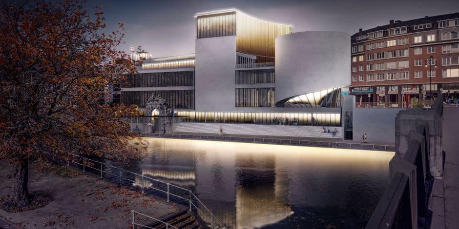 Maison de la culture de Namur: voici la façade et le tambour (VIDEO)