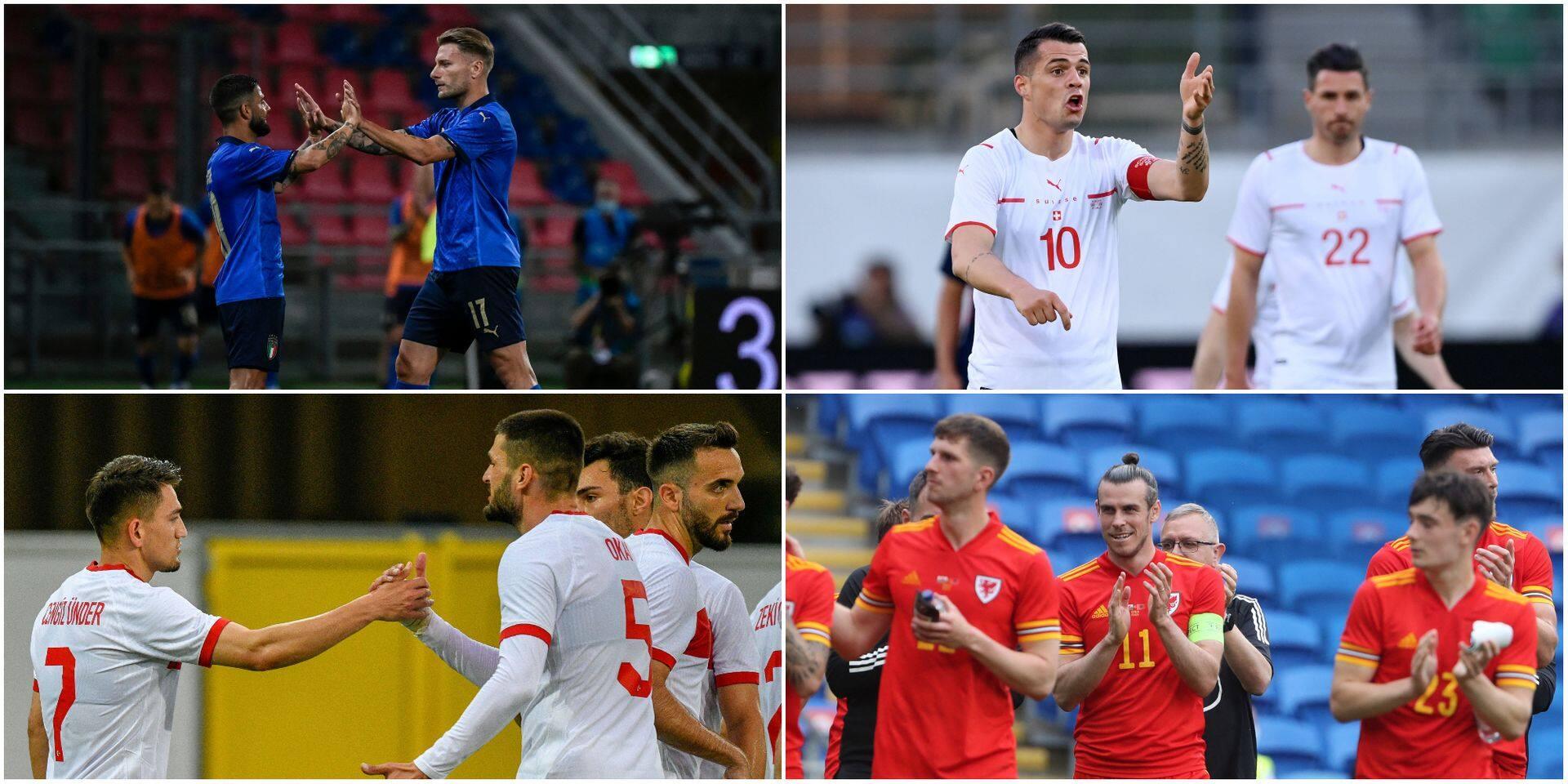 Les équipes du Groupe A de l'Euro 2021