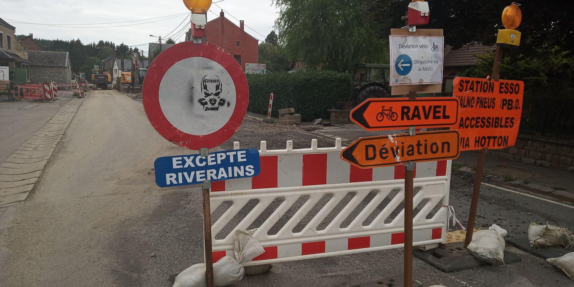 Hotton: fin des travaux pour fin octobre rue de La Roche