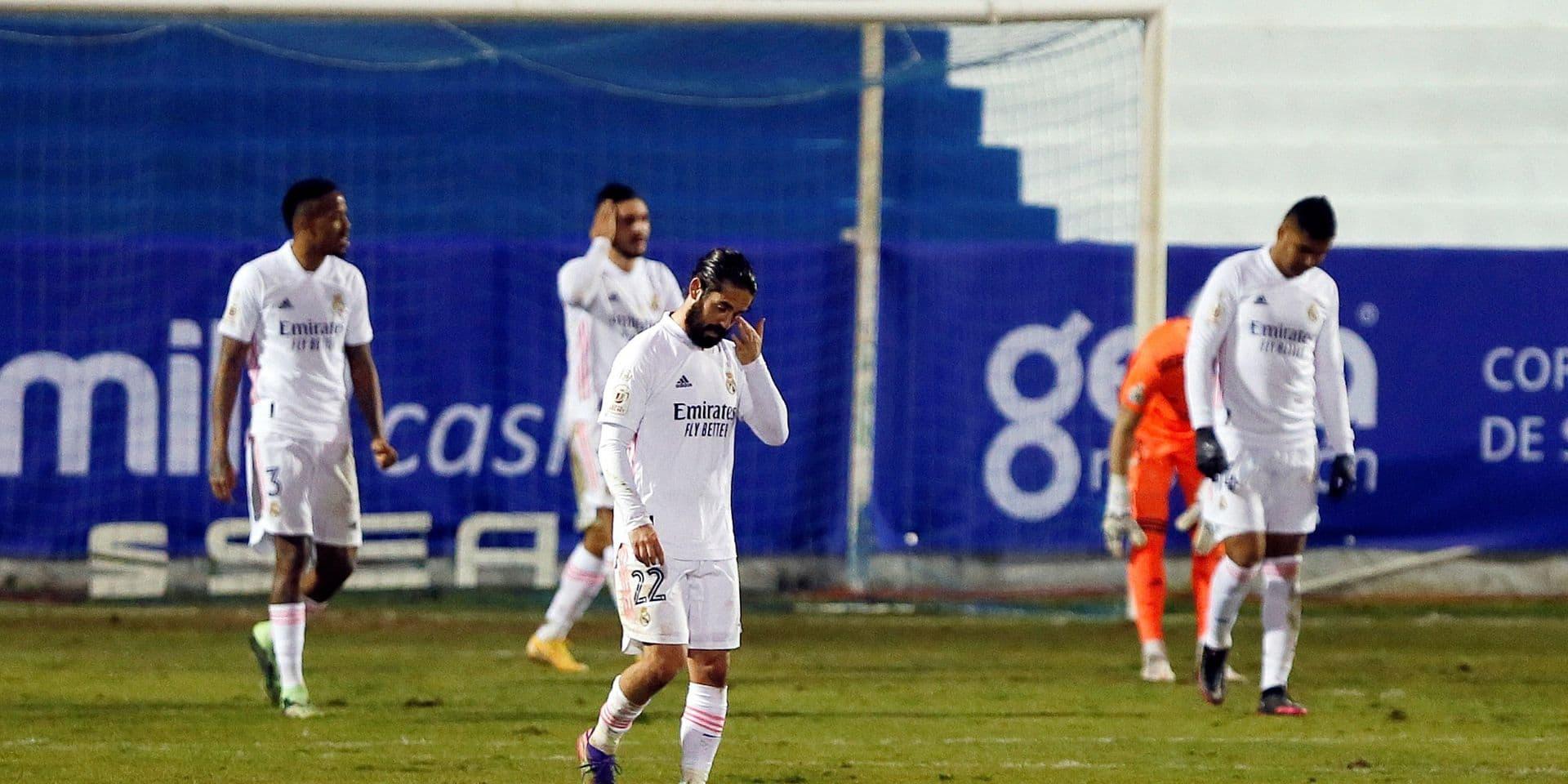 Eden Hazard et le Real Madrid éliminés de la coupe par une D3, Courtois sur le banc toute la rencontre