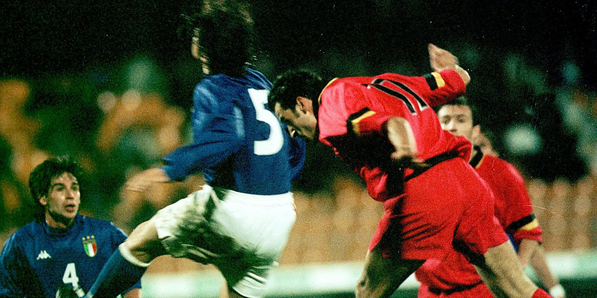 """Toni Brogno a joué son seul match avec les Diables face à... l'Italie : """"J'ai échangé mon maillot avec Di Biagio"""""""
