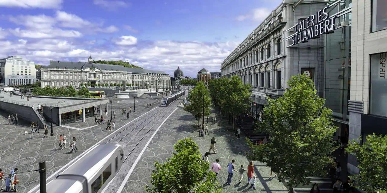 Tram : des travaux, rue Ernest Solvay.