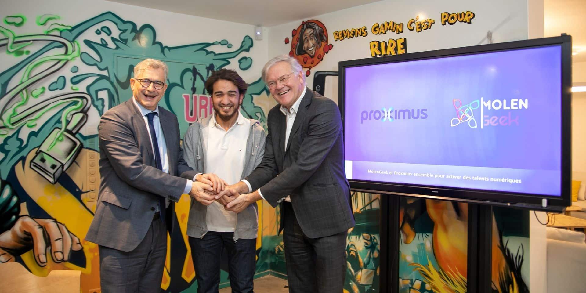 MolenGeek et Proximus, partenaires pour améliorer l'emploi