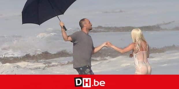 Lady Gaga totally see-through dress on a beach photoshoot in Malibu. 25 Jul 2018 Pictured: Lady Gaga. Photo credit: MEGA TheMegaAgency.com +1 888 505 6342 Reporters / Mega *** Local Caption *** MEGA256831_026