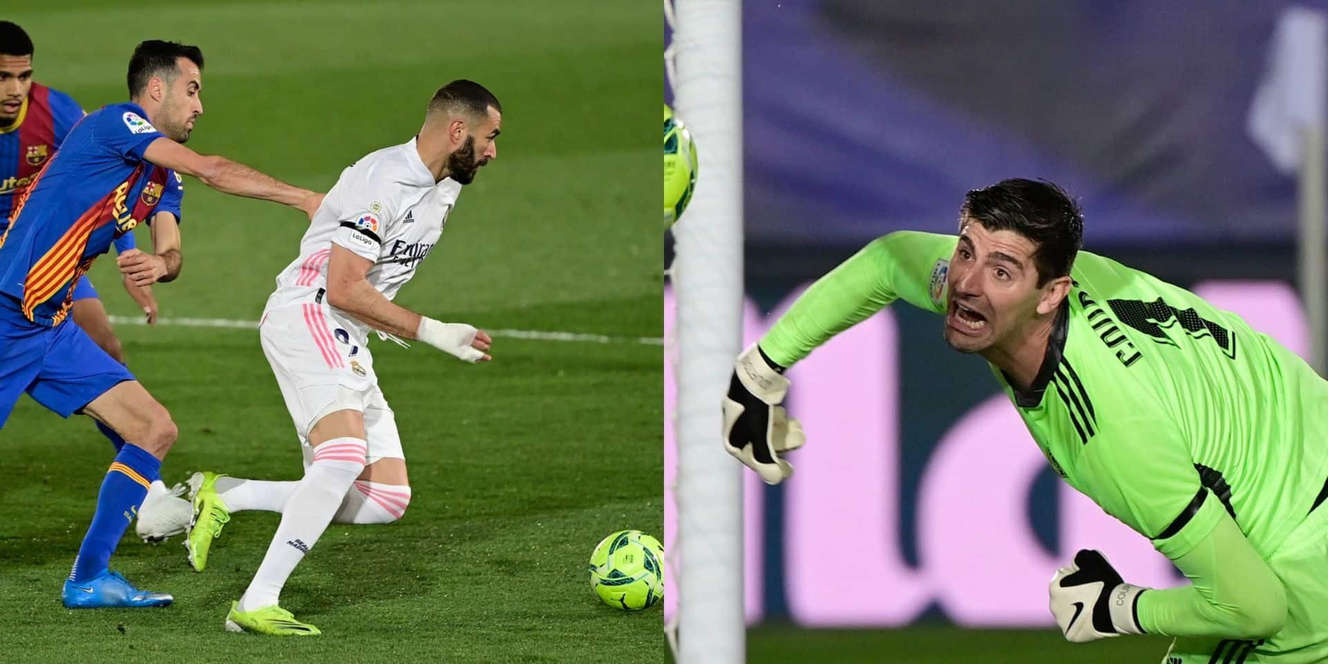 Avec un bijou de Benzema et un Courtois décisif, le Real Madrid remporte le Clasico (VIDEOS)