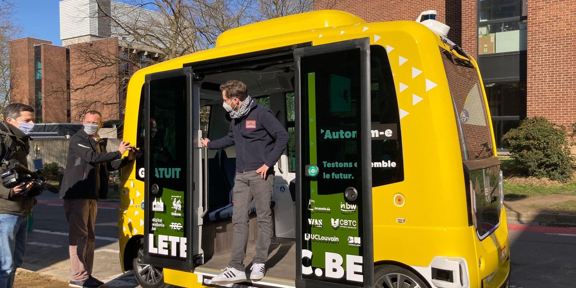 Lancement timide pour la navette autonome à Louvain-la-Neuve