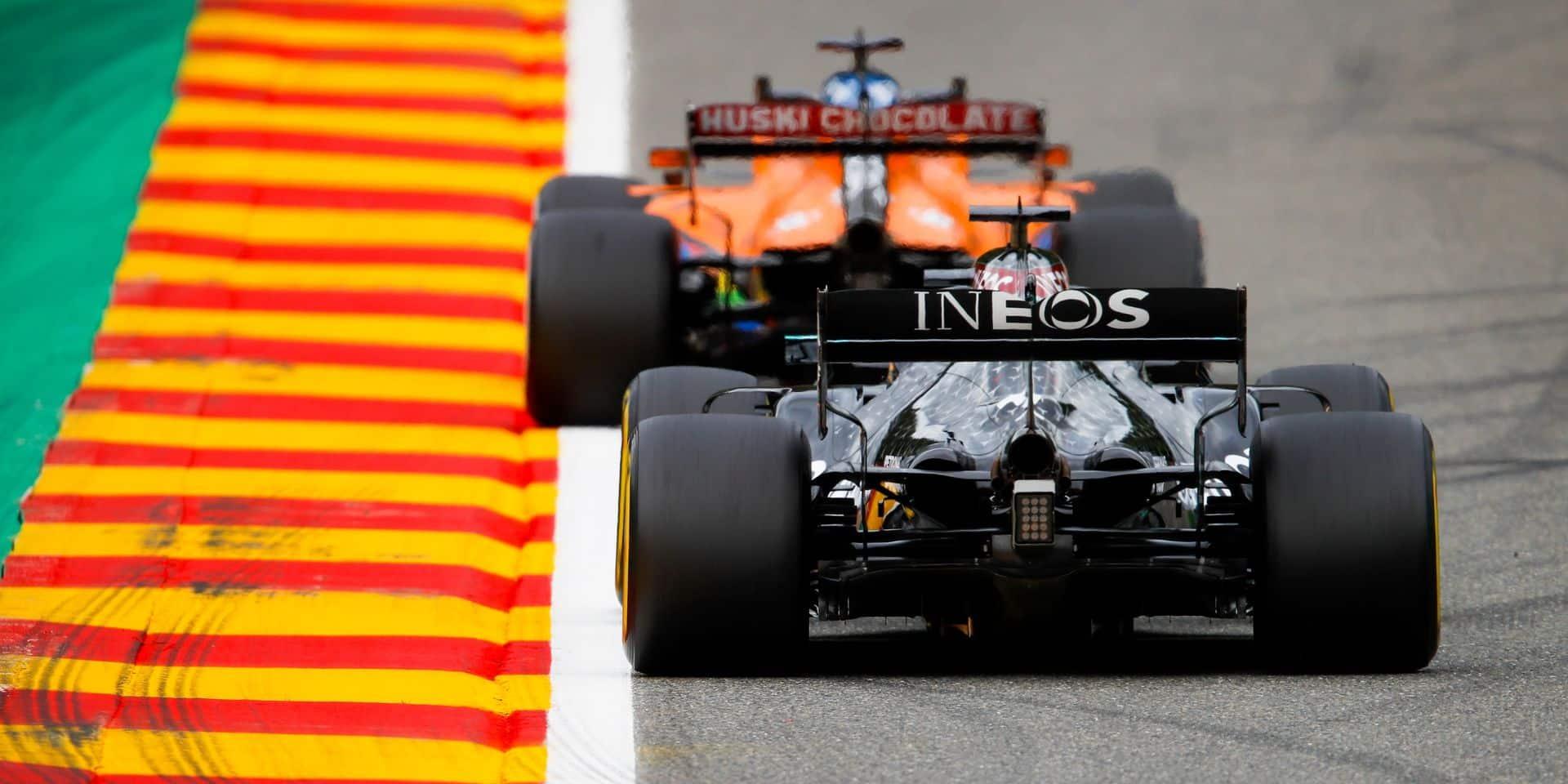 GP de Belgique (Libres 3): Tiercé inattendu, les Ferrari au fond du trou