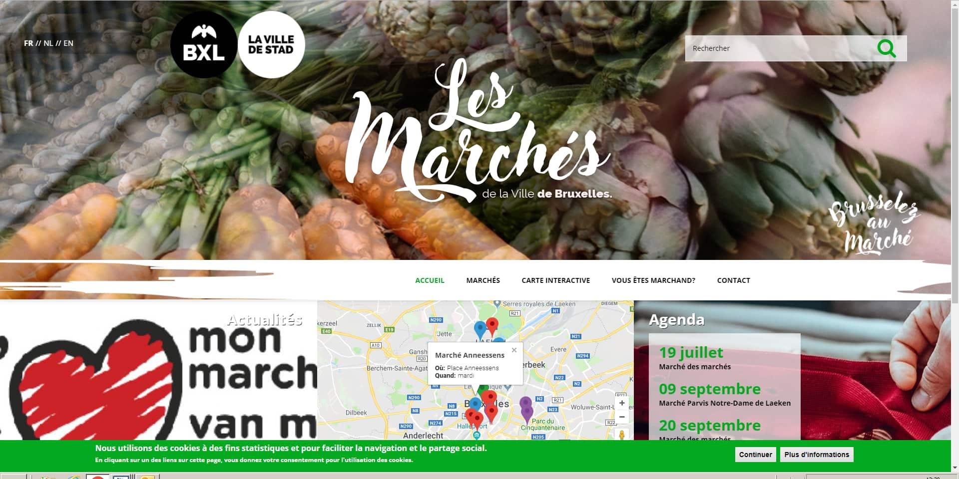 Bruxelles-Ville : Un site web reprend tous les marchés de la capitale