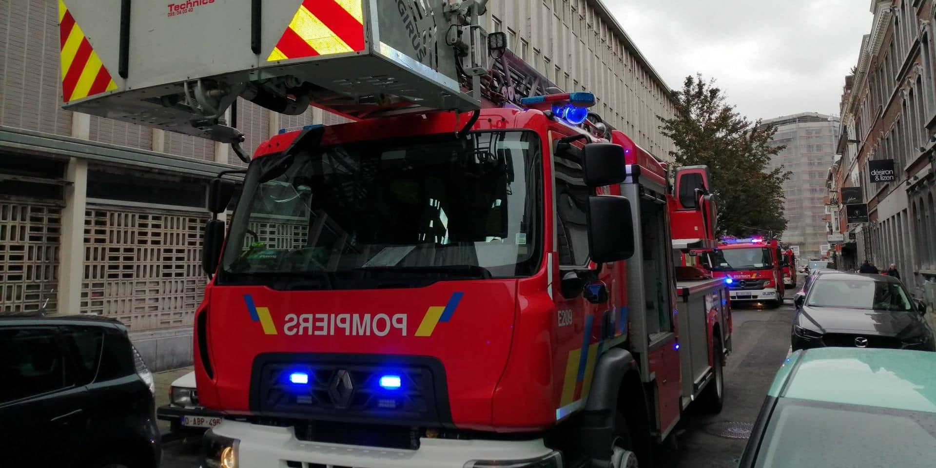 Alerte incendie à l'Athénée Liège 1