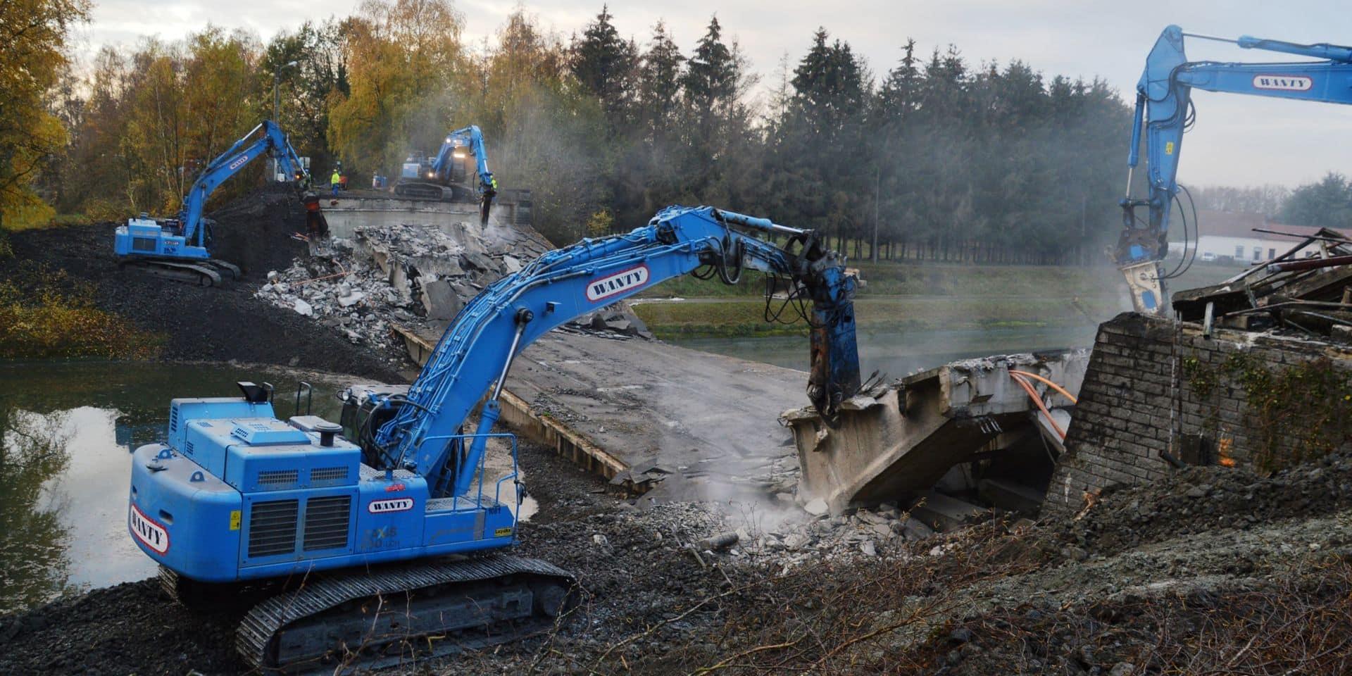 Blaton/Harchies : pas de reconstruction en vue du pont de la Bush !