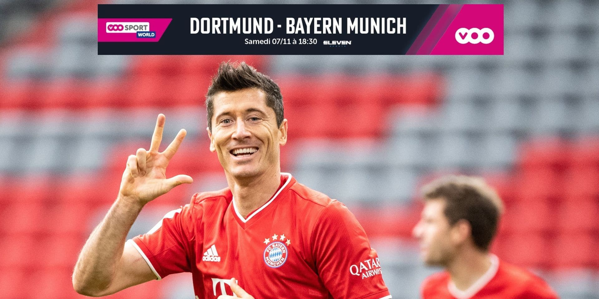 Bundesliga: Robert Lewandowski dispute son 300e match avec le Bayern contre le Borussia Dortmund