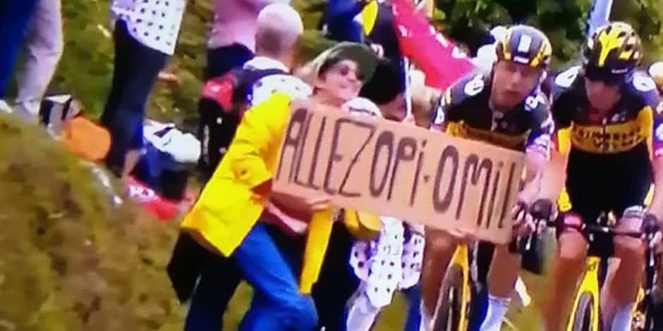 Chute massive lors du Tour de France: la spectatrice à la pancarte jugée jeudi